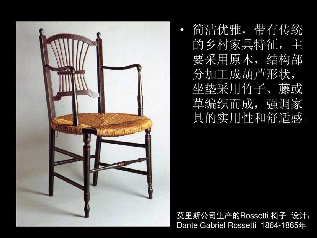 莫里斯生产的rossetti前景设计:dantegabrielrossetti1864ui怎么样椅子设计工作图片