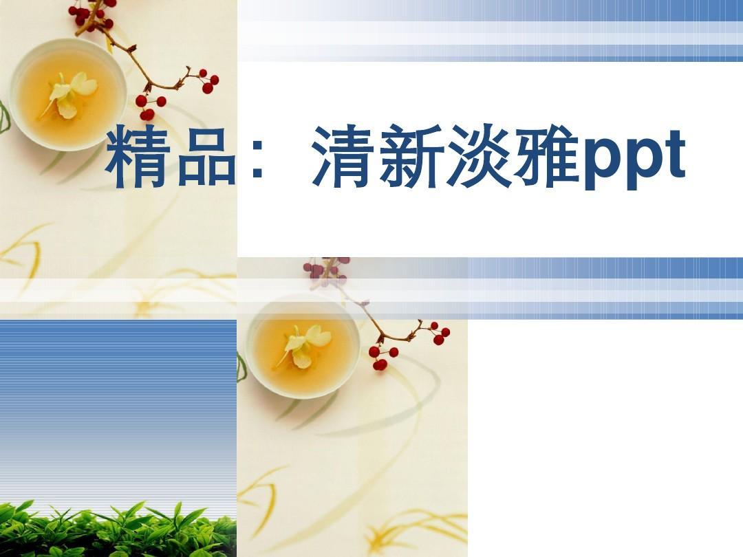 (精品_)清新淡雅ppt整套模板-免费图片