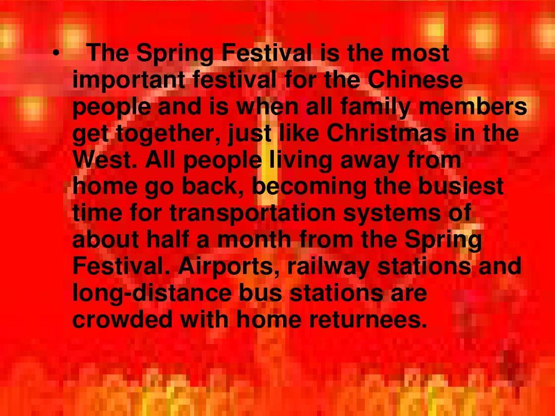 春节的英文ppt介绍图片