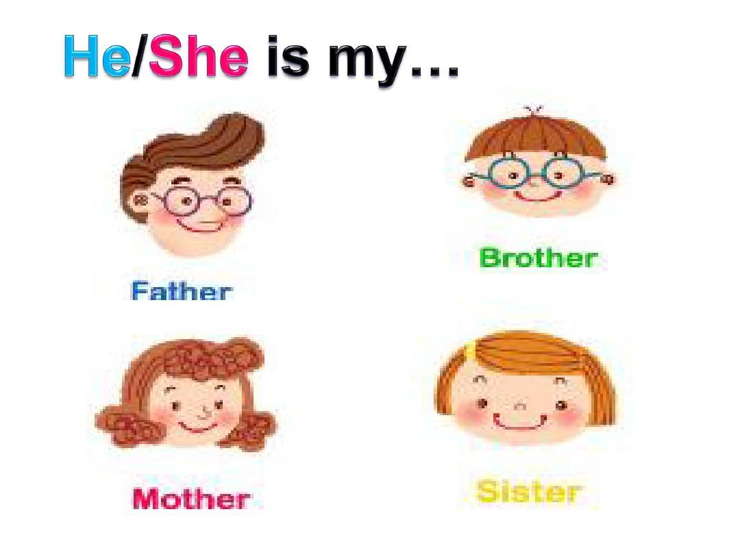 my family我的家庭ppt图片