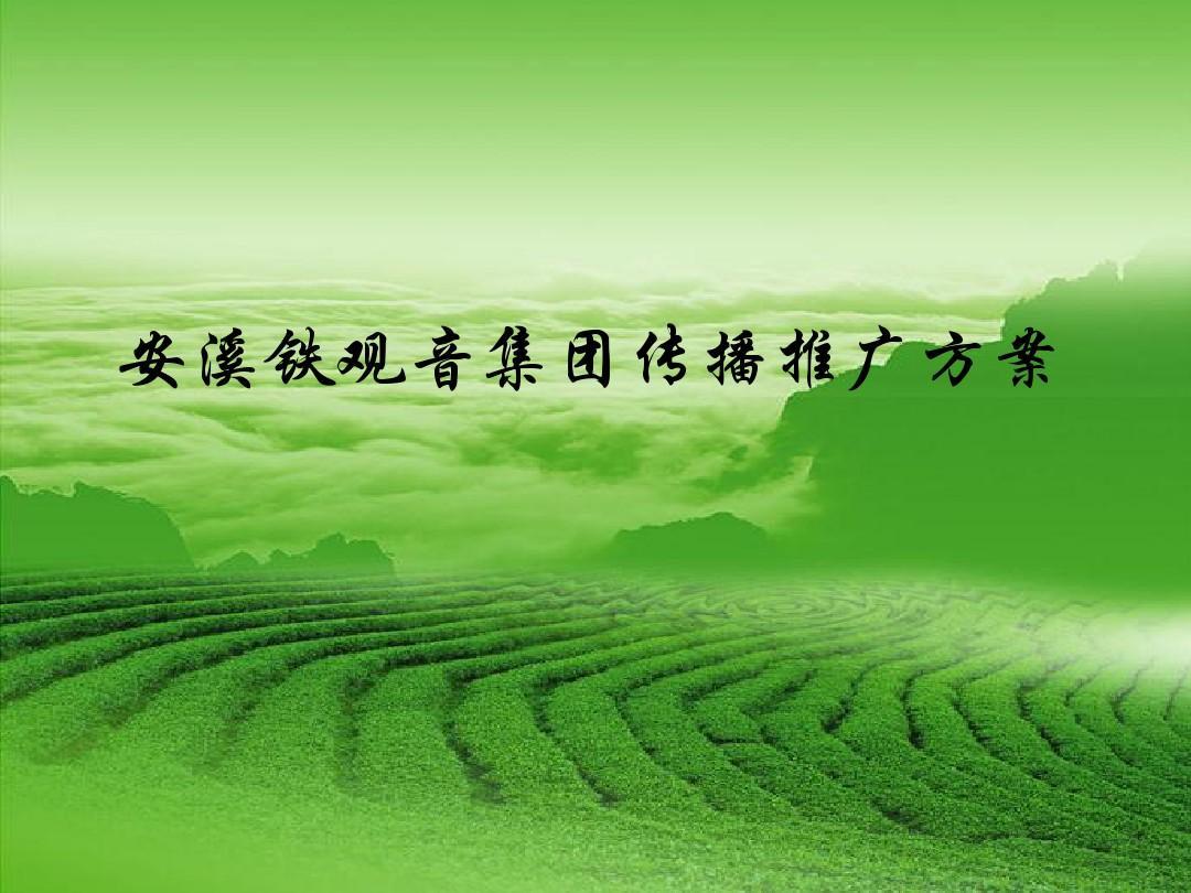 2010安溪铁观音品牌推广方案ppt