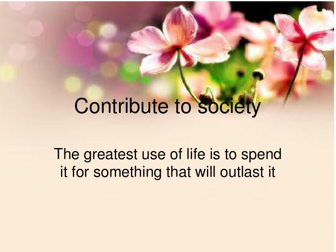 英语写作contribute to society