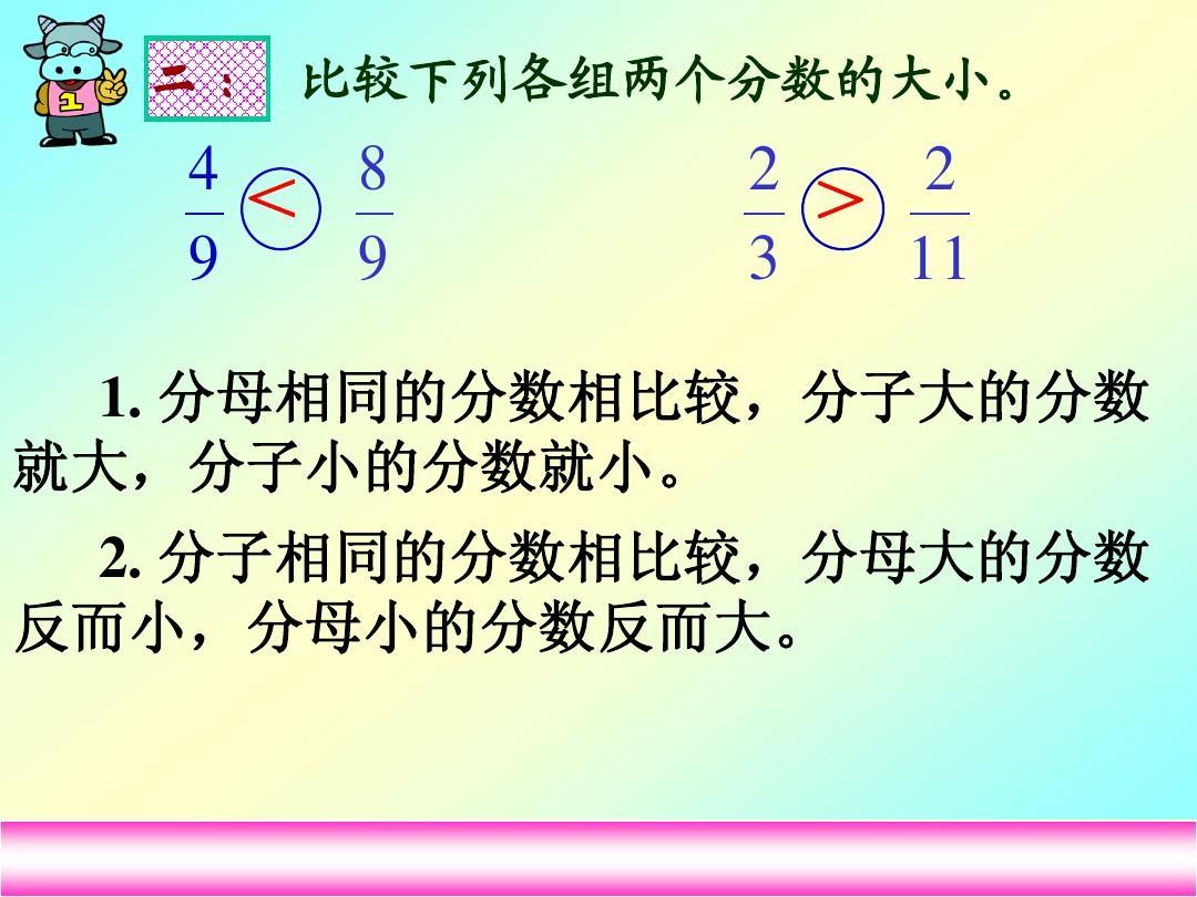 下册版五人教年级数学《课件的通分》分数ppt说姚琴背影课稿图片