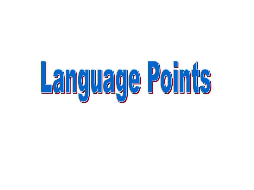 人教版必修2 Unit 2 The Olympic Games语言点 period_2 Language_points