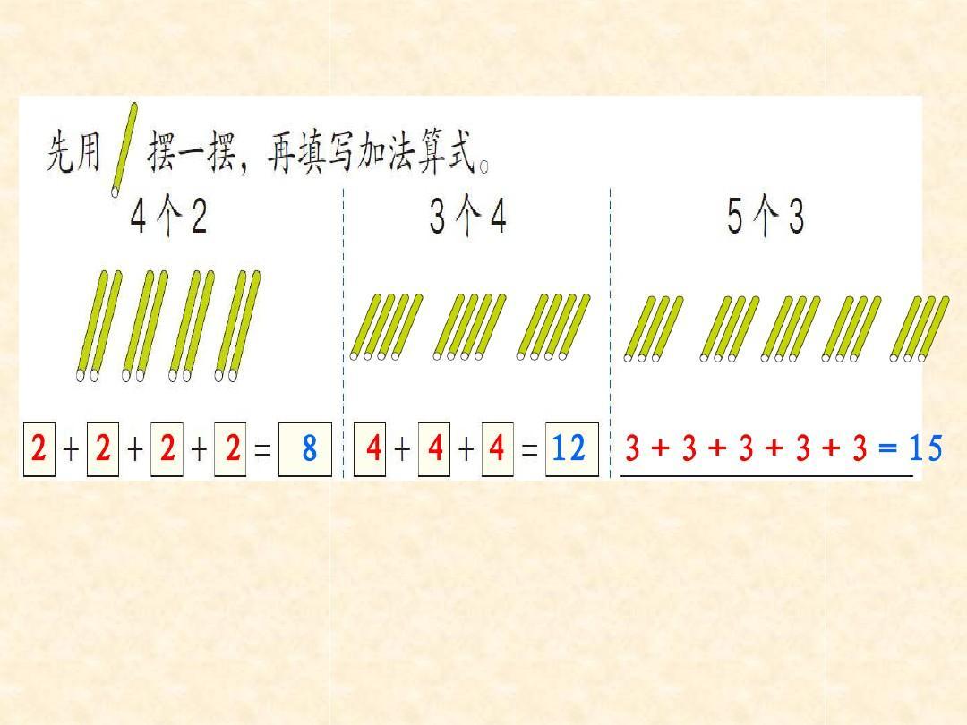 单元版二年级导论人教第四数学课件的初步认识ppt乘法统计学上册图片