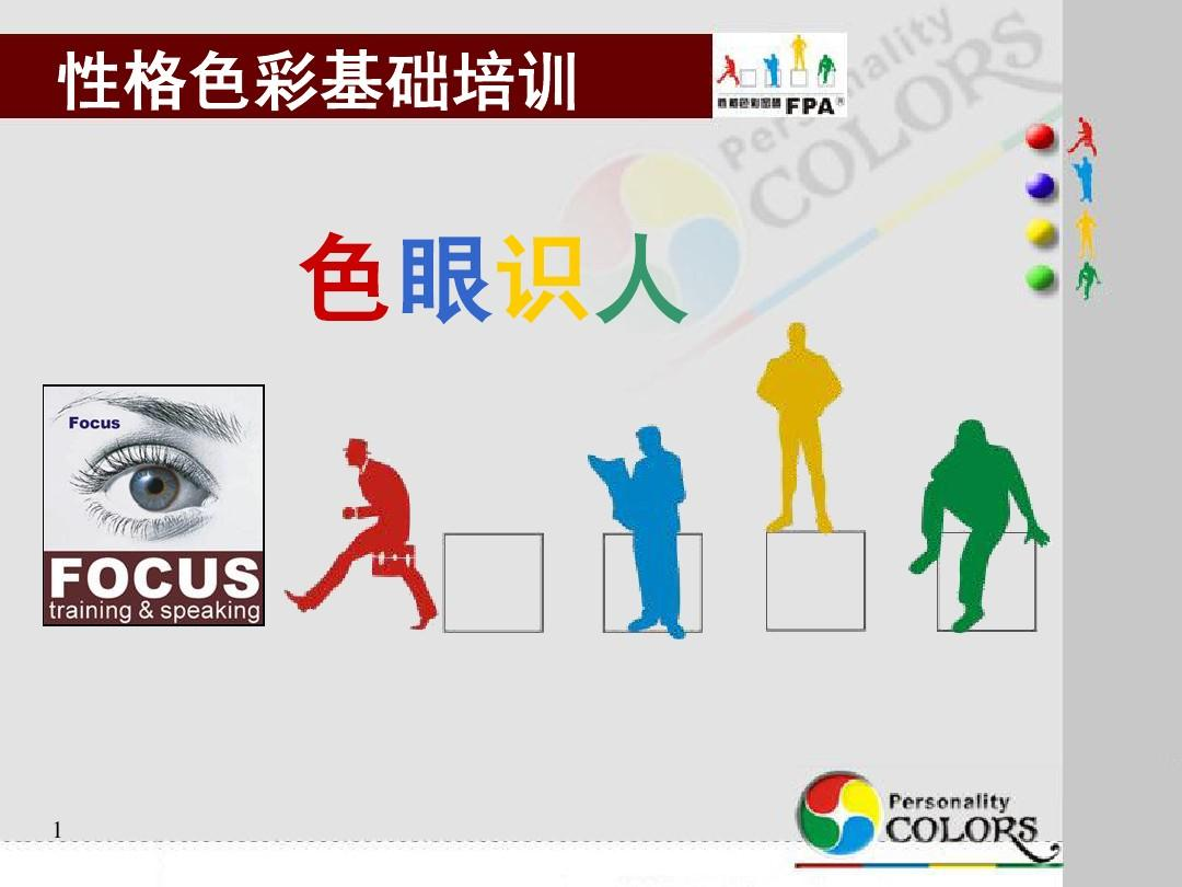 乐嘉老师的性格色彩分析,测试结果红色: 8分 蓝色: 11