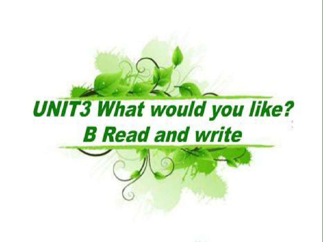 新版PEP五年级英语上册第三单元Unit3what_would_you_like_第六课时Part_B_Read_and_writePPT