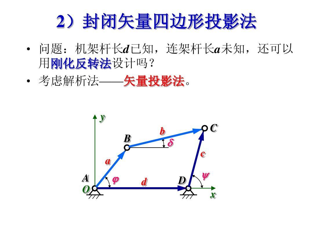 华科机械原理课件-平面连杆机构及设计ppt图片