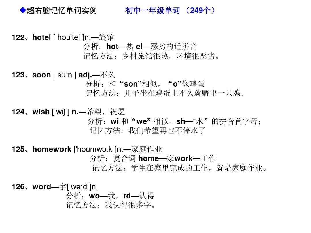 右脑超记忆快速英语编码单词记忆法(初中英语981个初中单词形象)ppt排行榜哈尔滨右脑图片