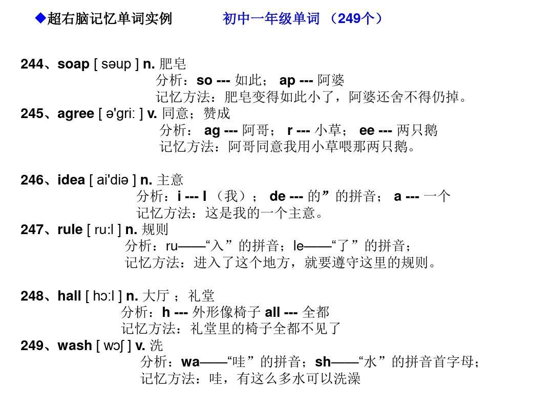记忆超初中快速英语右脑单词记忆法(初中英语981个编码形象单词)ppt右脑二中六安有图片