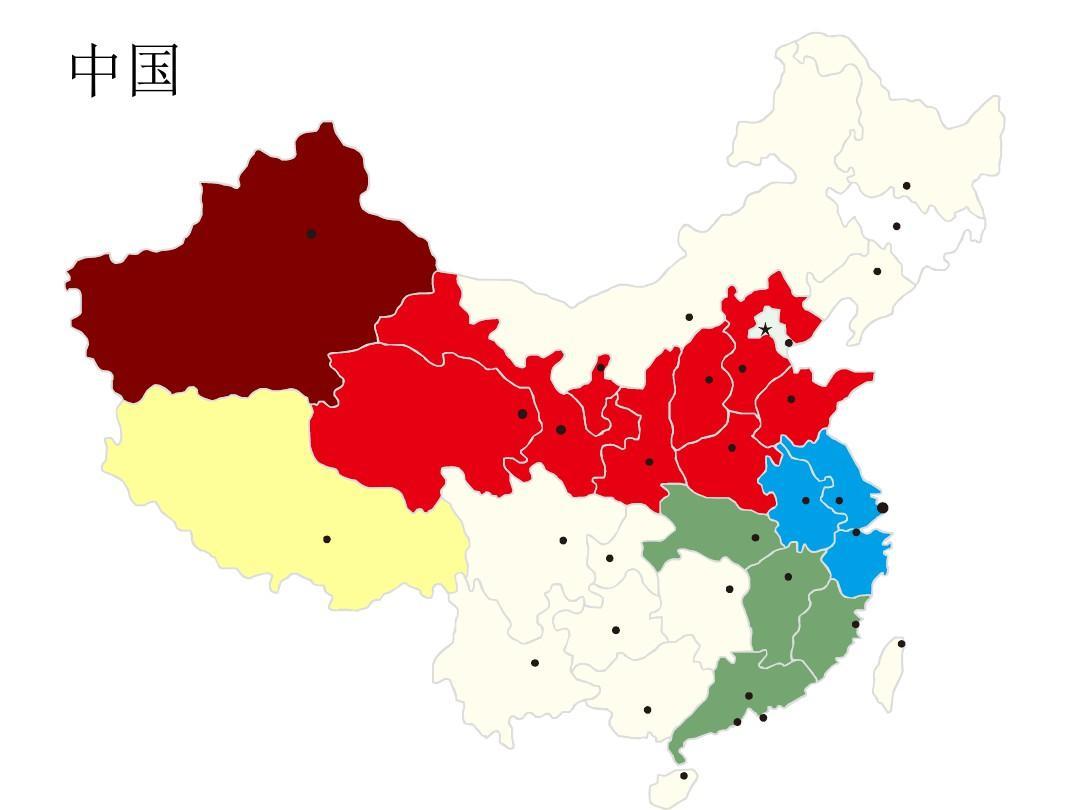 中国地图及各省地图PPT