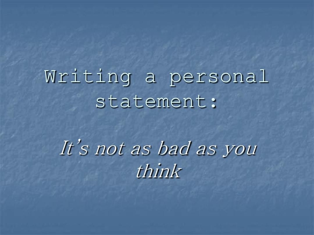 PersonalStatement