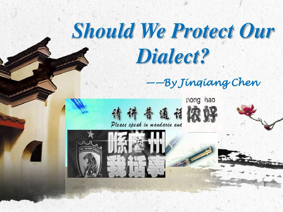 Should we protect our dialect