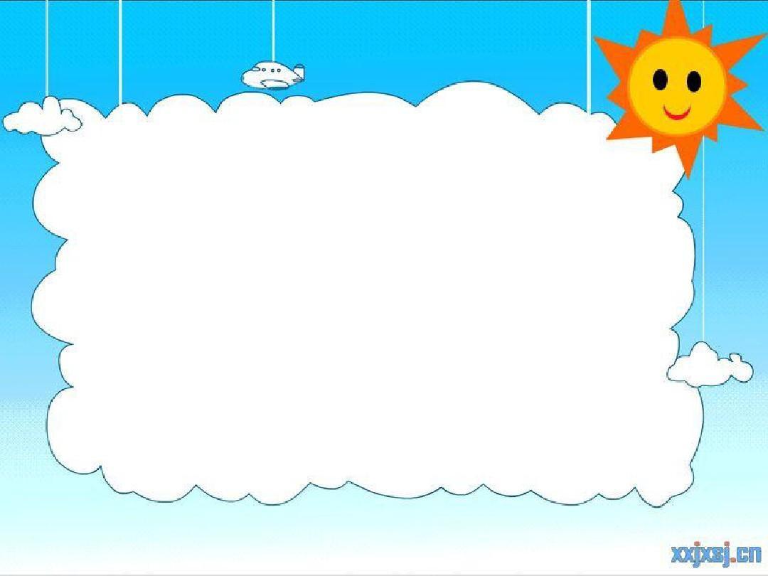 超可爱卡通ppt模板背景图图片