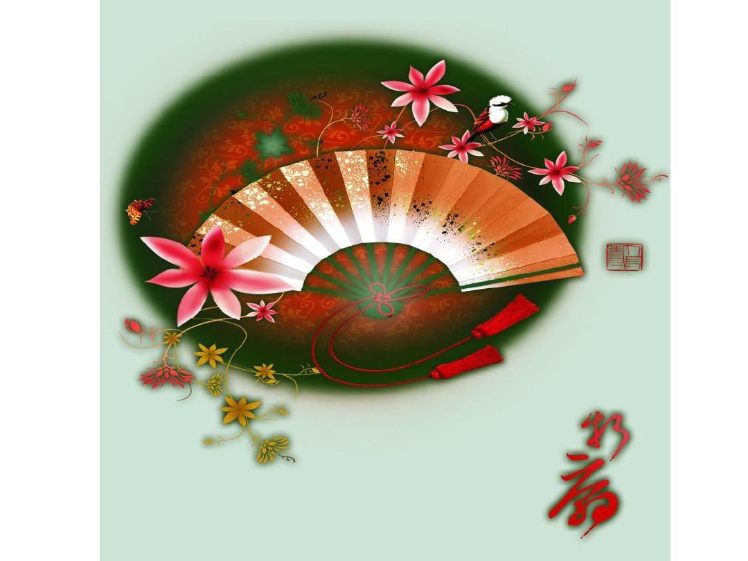 中国风古扇ppt背景图片图片