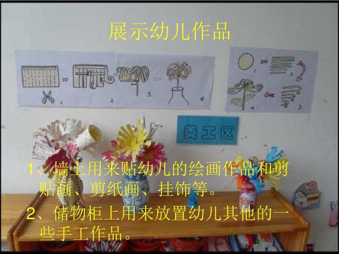 幼儿园环境创设—美工区ppt图片