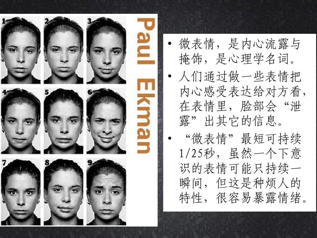 微表情与心理学ppt图片
