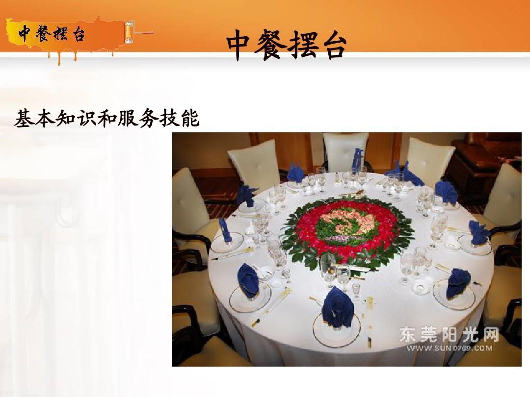 中餐摆台 基本知识和服务技能图片