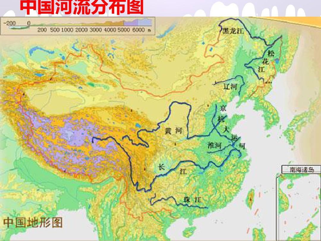 我国河流分布图_中国河流分布图