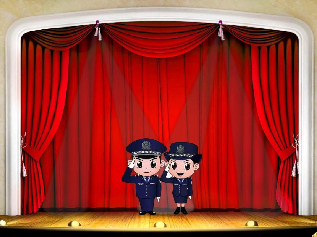 动感效果很强的舞台开幕和闭幕的幻灯片开头和结尾.图片