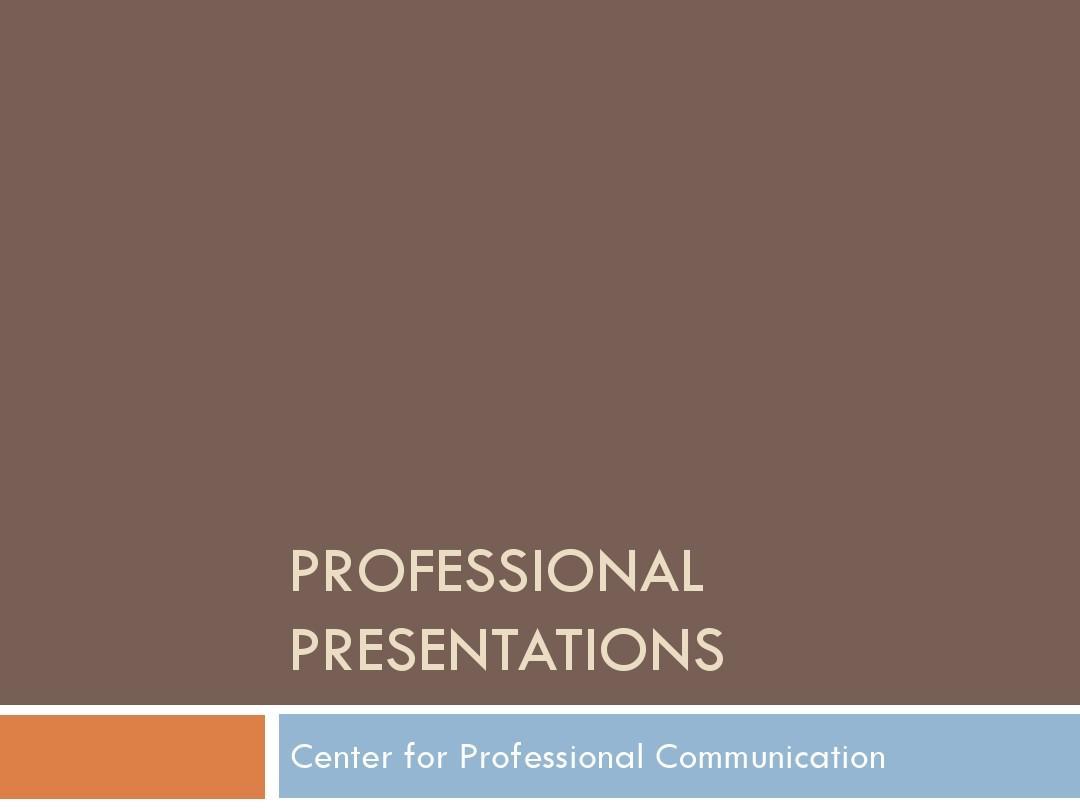 Professional_Presentations