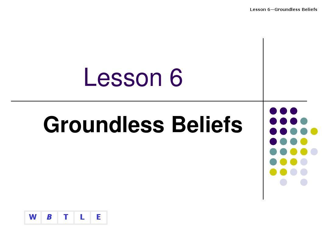 Groundless Beliefs