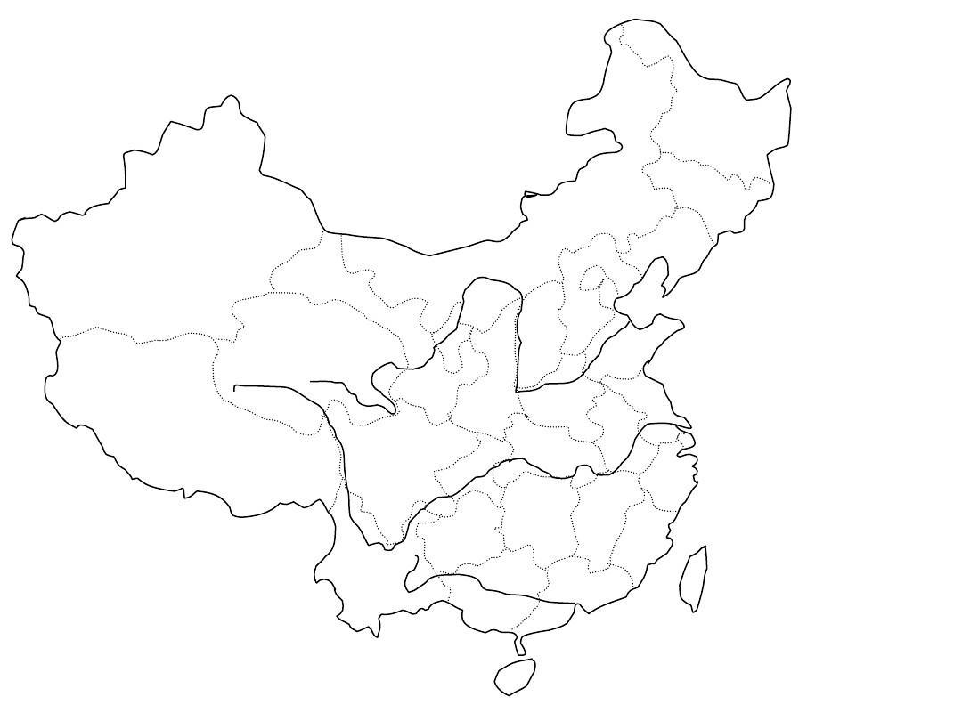 中国地图上的空白