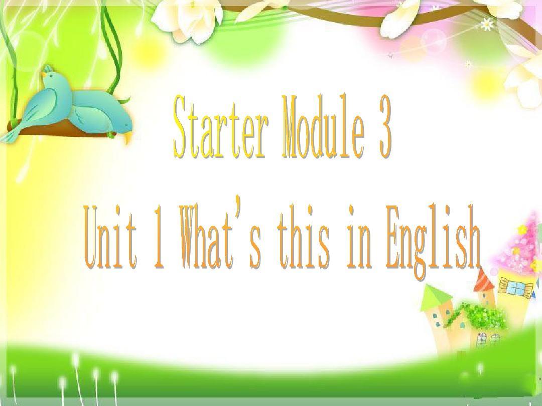 外研版英语七年级上册2012年秋Starter_Module_3
