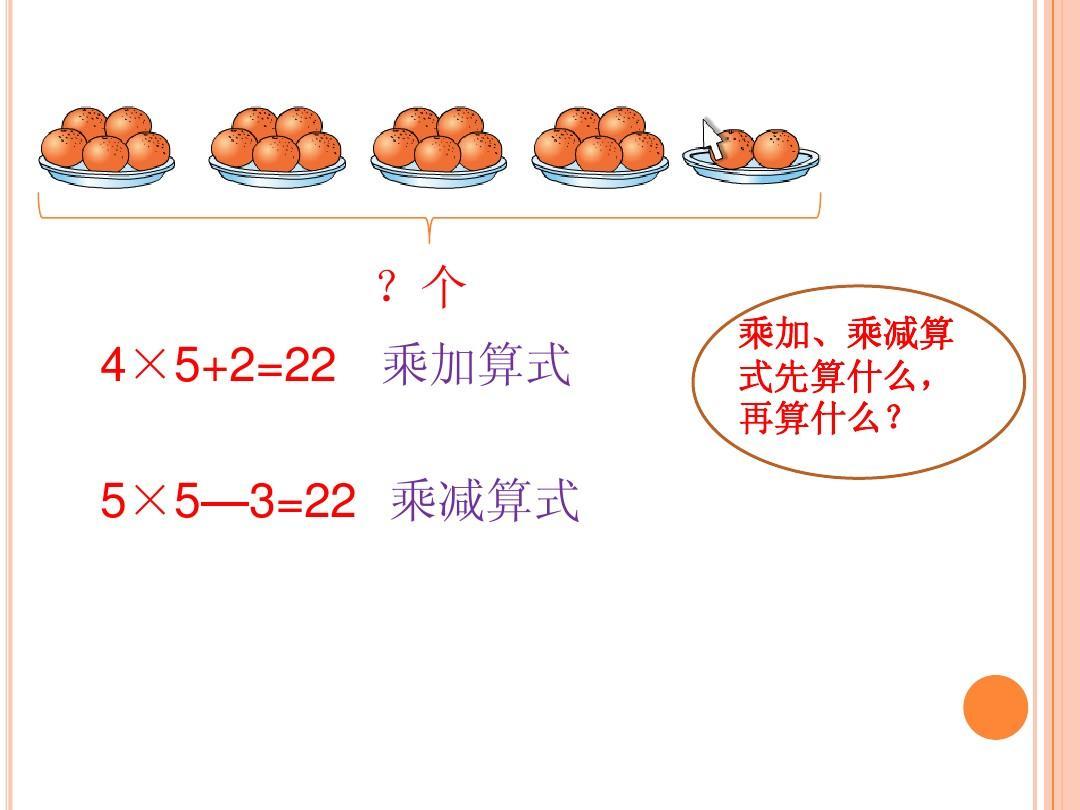 个 4×5+2=22 乘加算式 5×5—3=22 乘减算式 乘加,乘减算 式图片