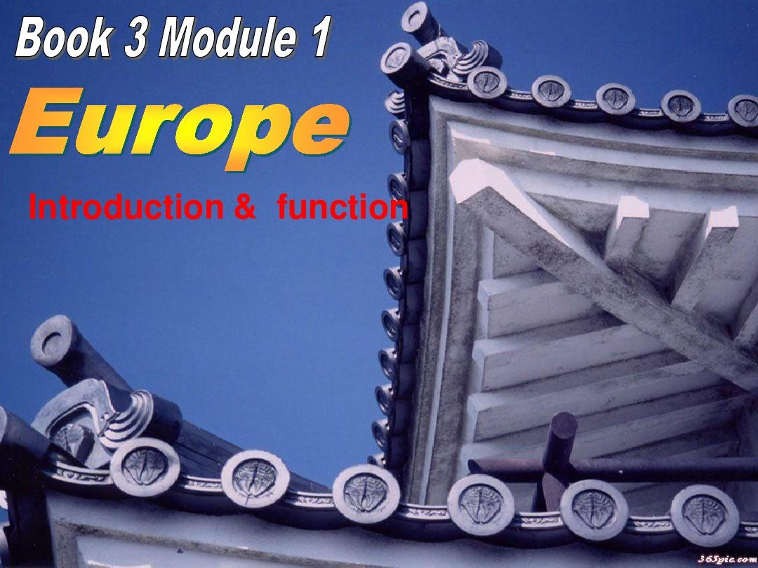 Module 1 Europe-Introduction Reading Culture课件1PPT