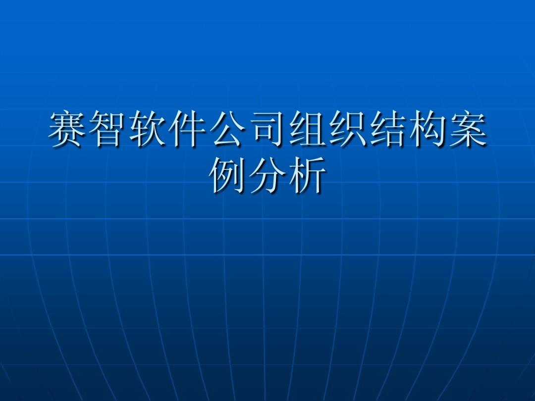 案例分析_赛智软件公司组织结构案例分析PPT_word文档在线阅读与下载_无忧文档