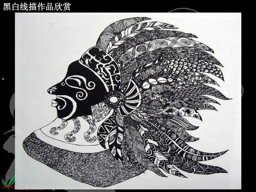 人美版小学美术六年级上册《线描画中的黑白对比》ppt图片