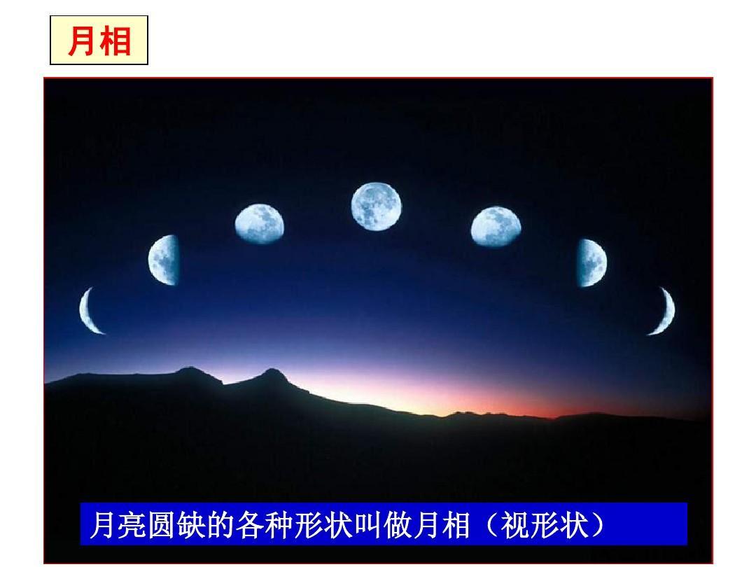 月亮圆缺的各种形状叫做月相(视形状)图片