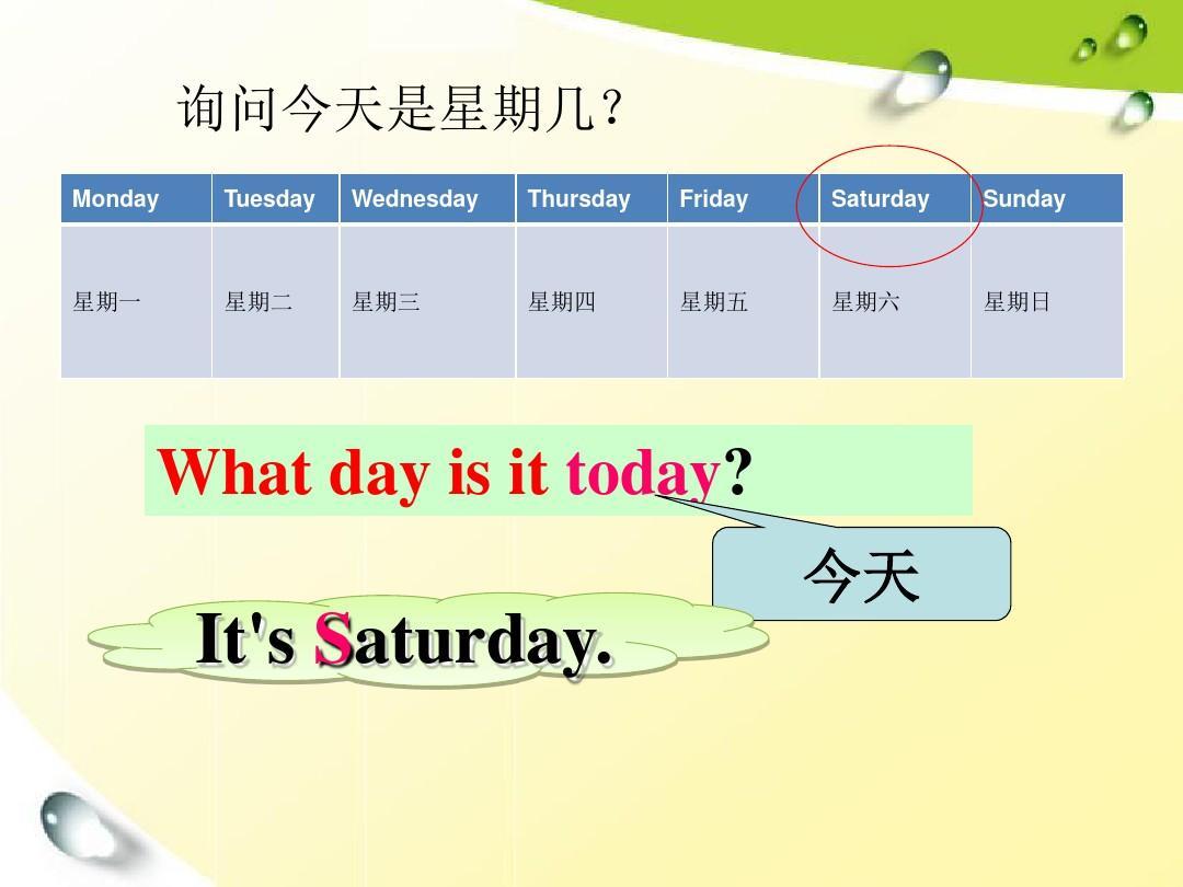 英语问今天星期几