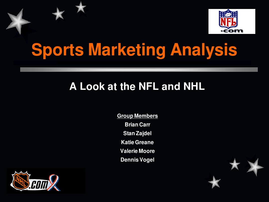 sports marketing analysis a look at the nfl and nhl group图片