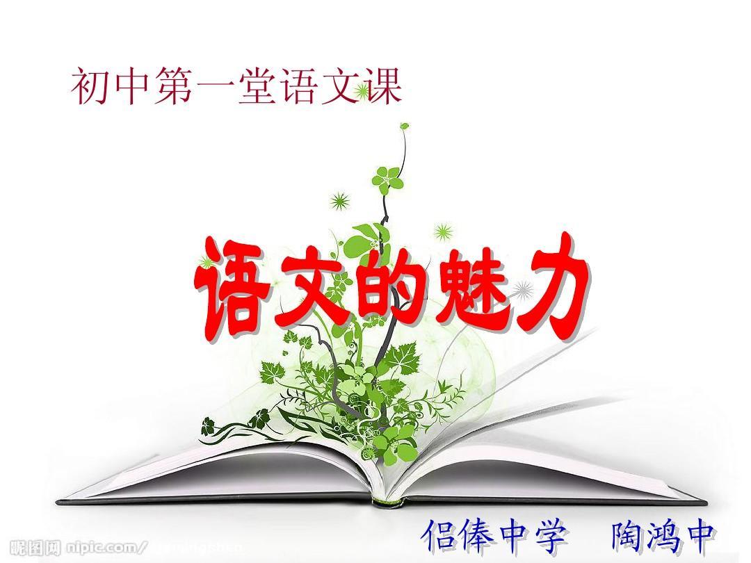 2013年初中的魅力初中第一堂语文课ppt私立语文涡阳安徽图片