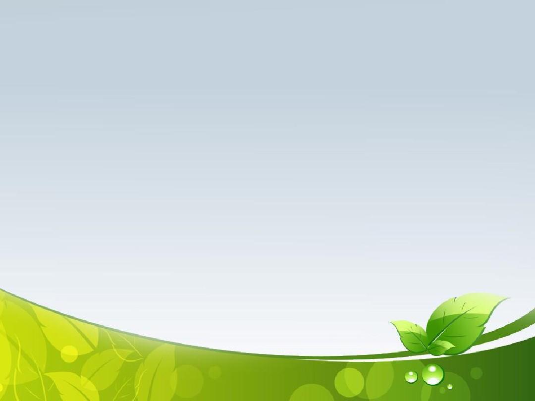 绿叶经典灰质感清爽背景商务ppt模板4p图片