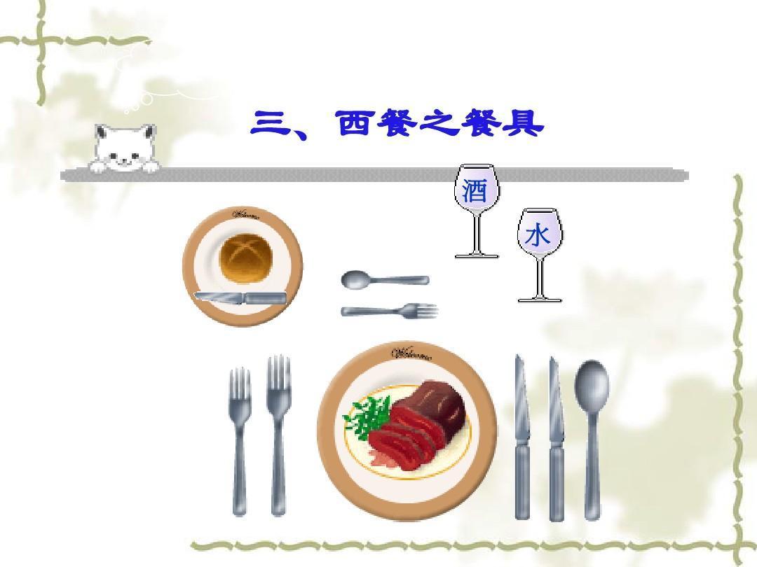 吃西餐礼仪ppt图片