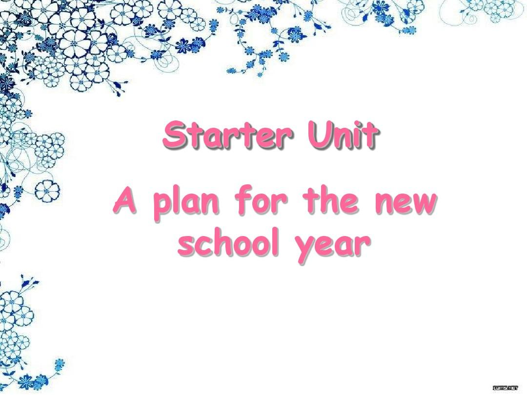 Starter Unit a plan for the new school year Part 2
