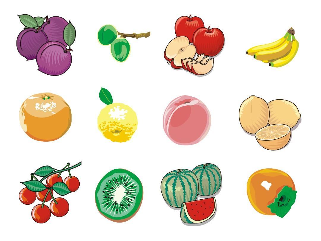 动物水果剪贴画ppt