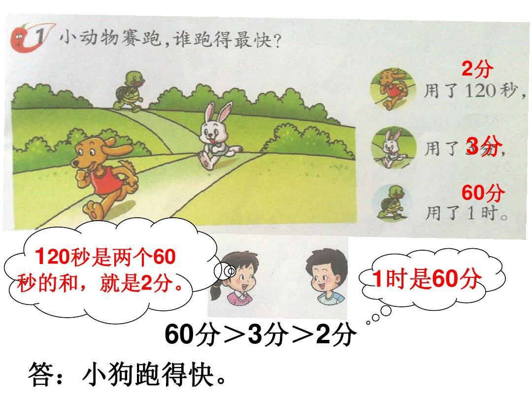 最新西师版小学数学二年级下册《时分秒解决问题2》ppt图片