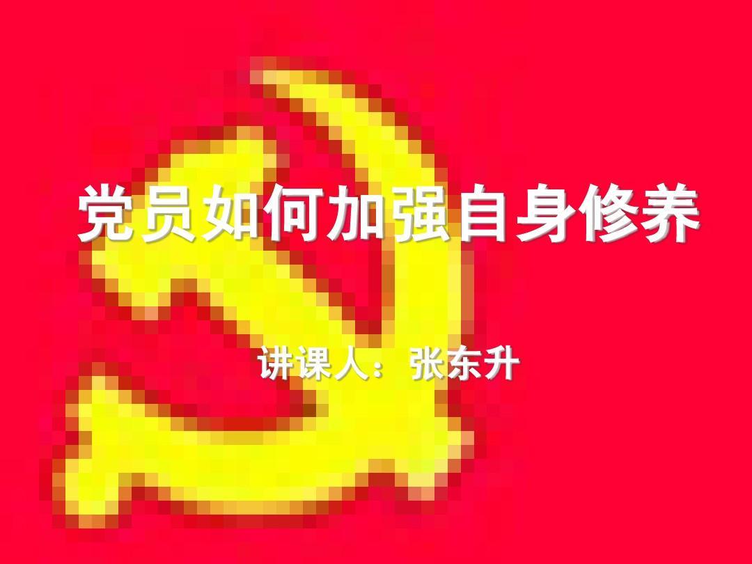 党员讲党课---论共产党修养ppt德国fun情趣用品图片