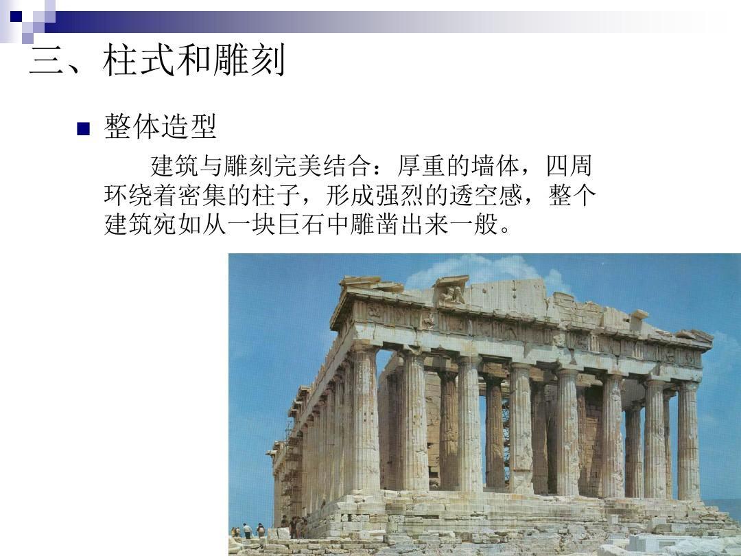 建筑初步-西方古典建筑柱式ppt图片