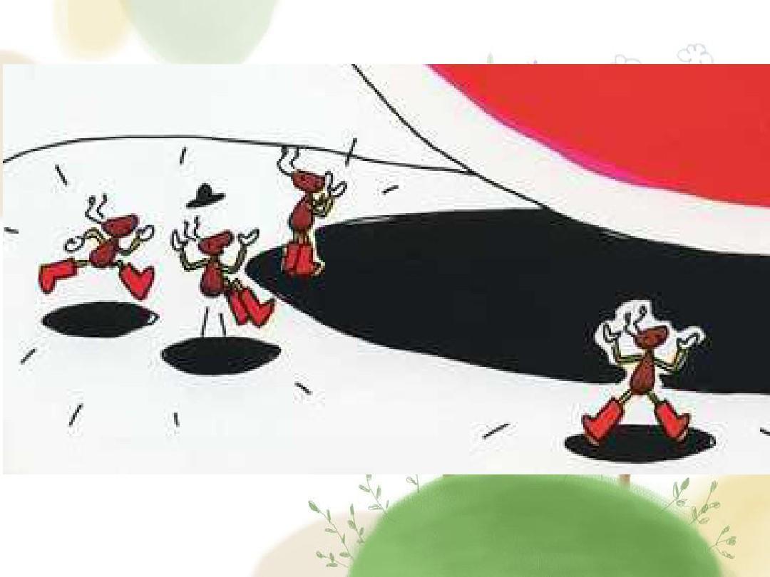 《蚂蚁和西瓜》绘本故事ppt图片