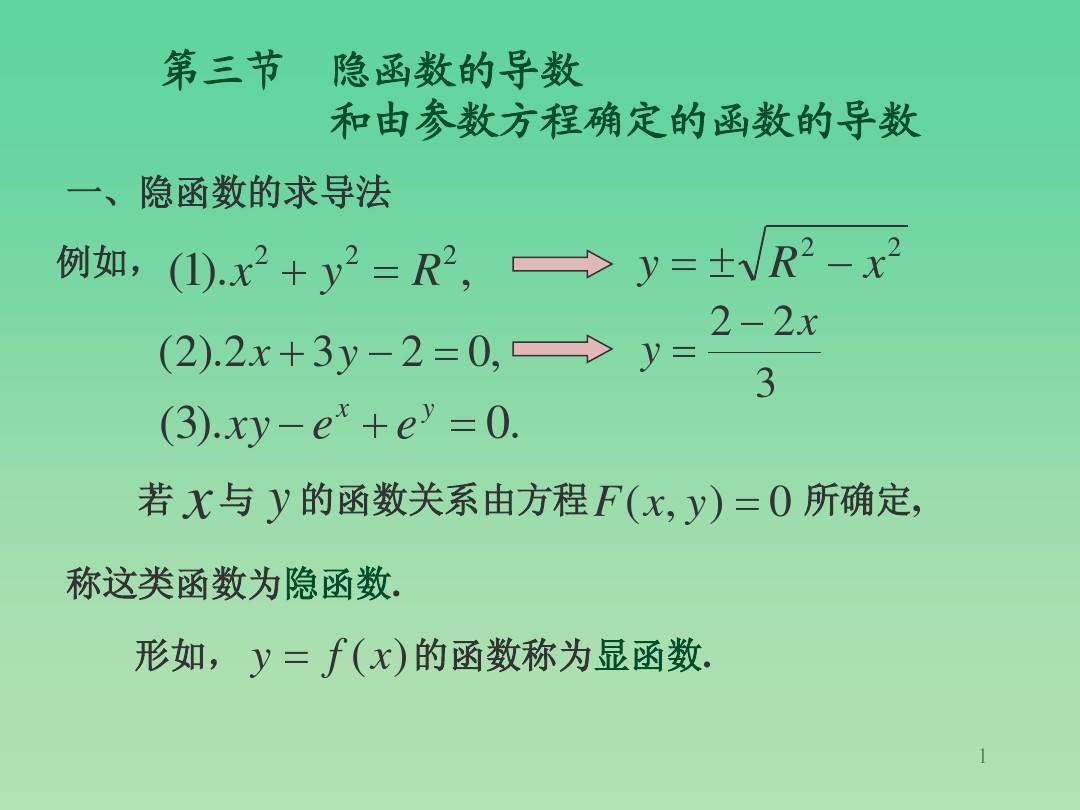 山东财经大学   微积分课件 §2-3