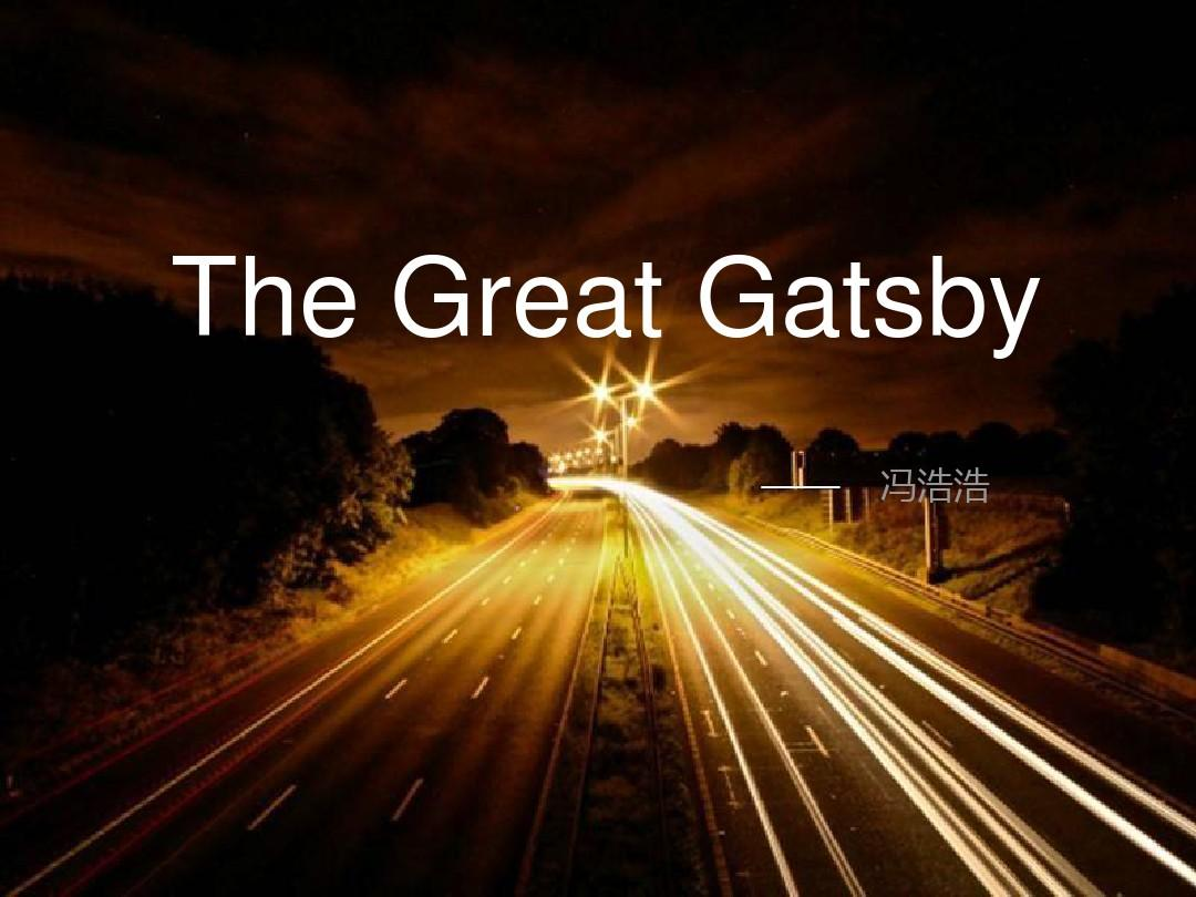 presentation of great gatsby Get free homework help on f scott fitzgerald's the great gatsby: book summary, chapter summary and analysis, quotes, essays, and character analysis courtesy of cliffsnotes.