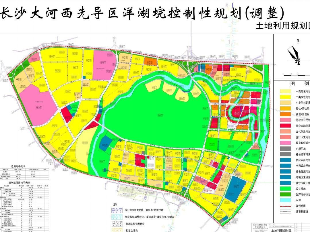 长沙洋湖垸片区土地利用规划图ppt