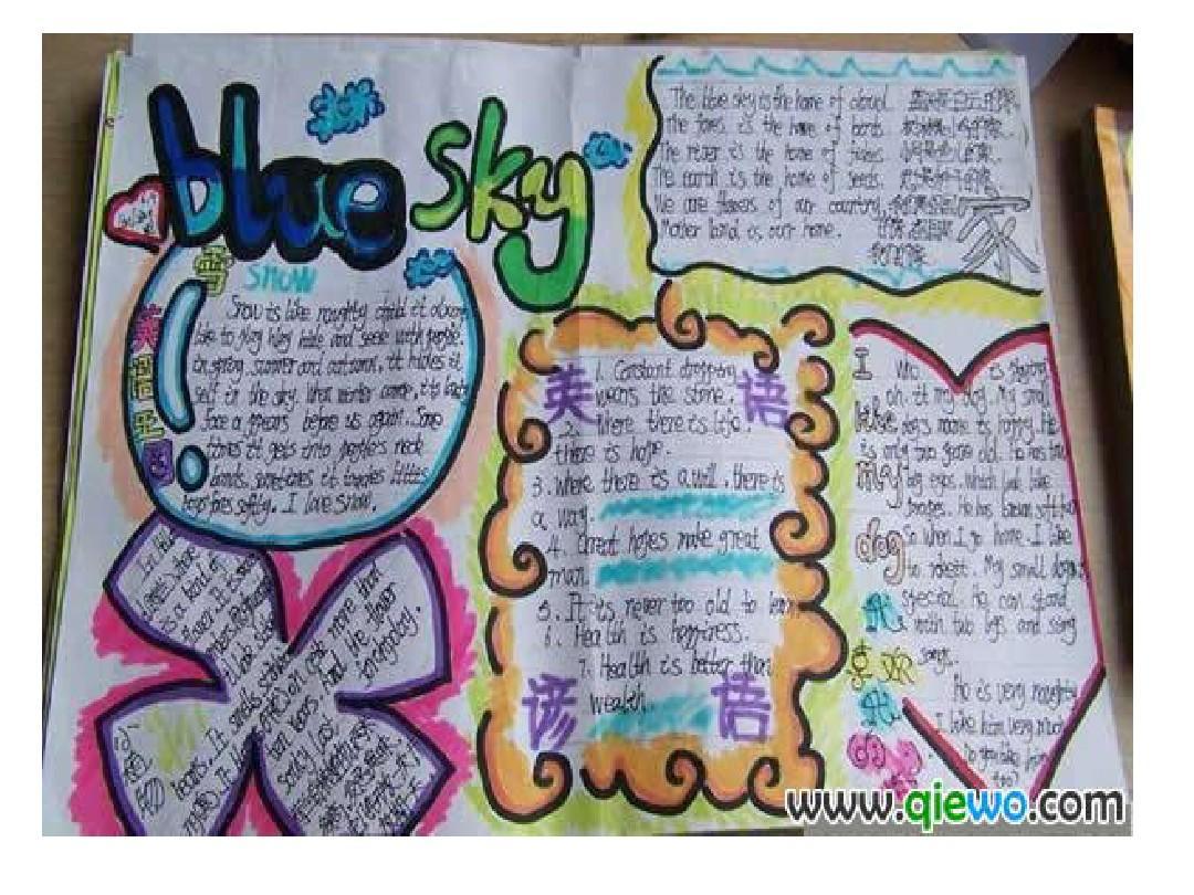 小学各种英语手抄报,内容丰富,形式多样