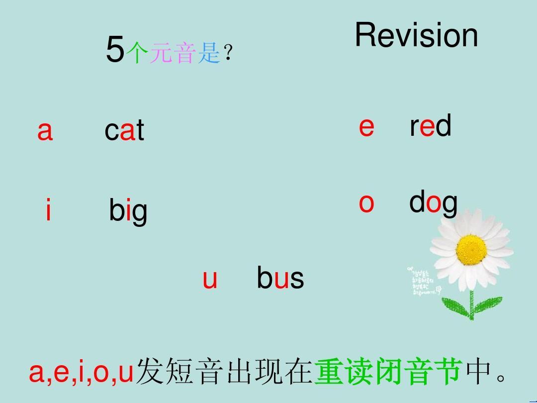 语音上lesson 6 a和e的长音因素