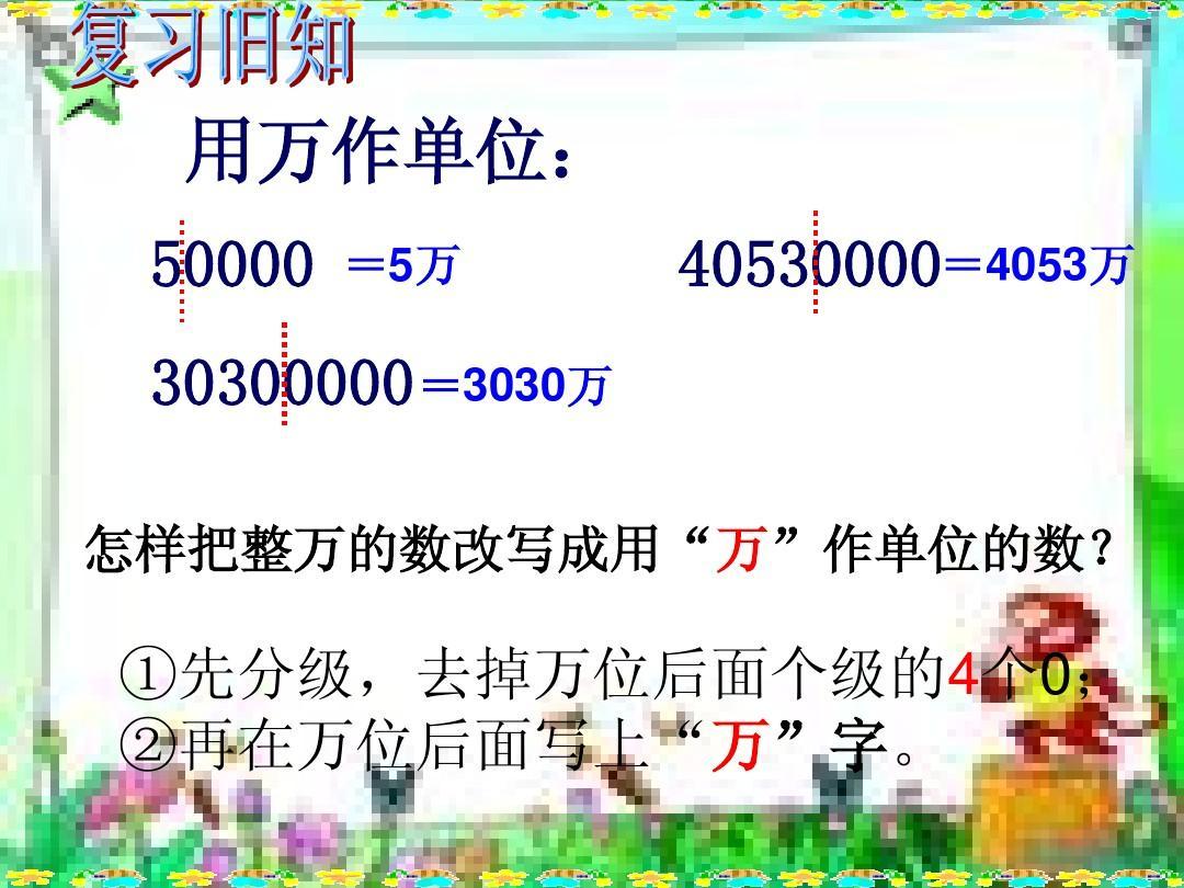 四年级数学上册:亿以上数的改写和省略ppt课件